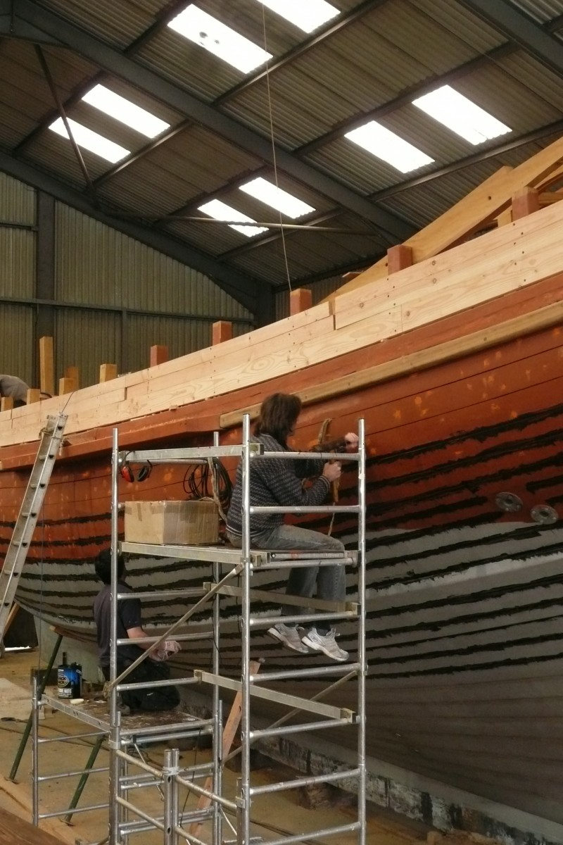 Marcus caulking port side