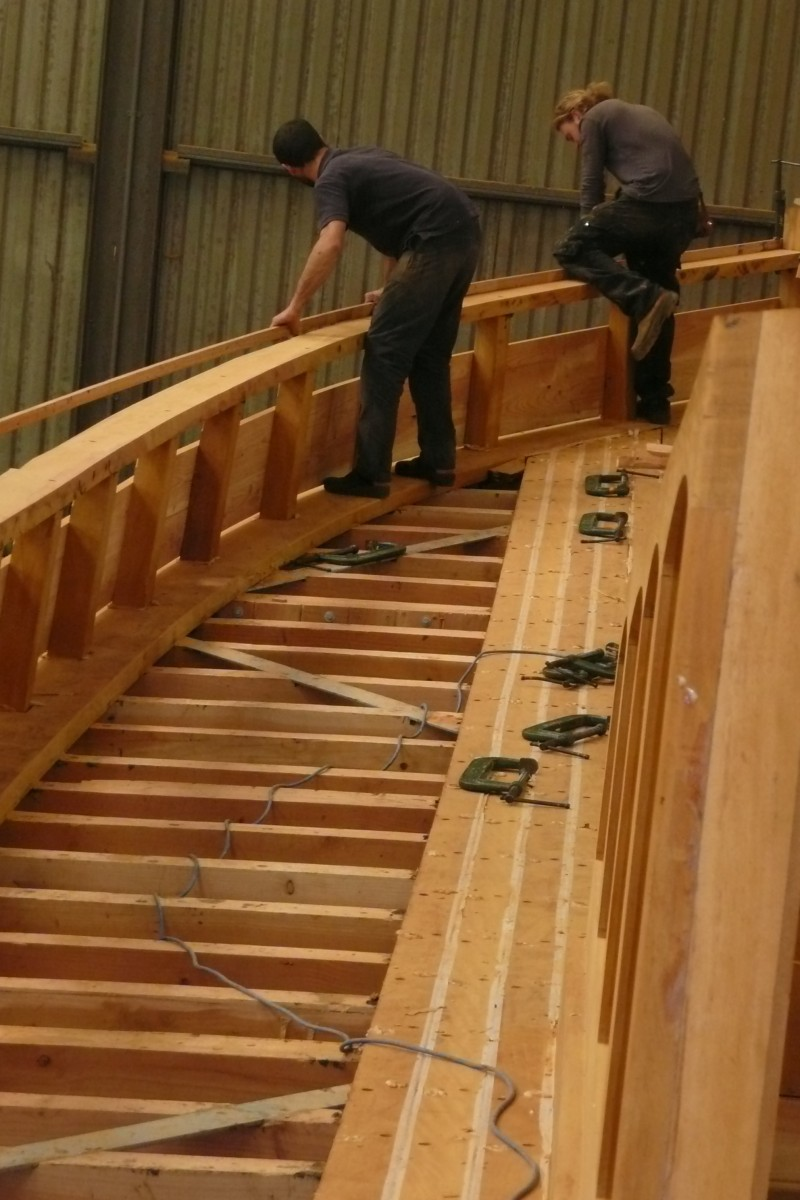 fitting the capping rail