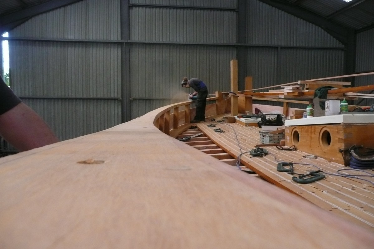 Pete cutting the capping rail