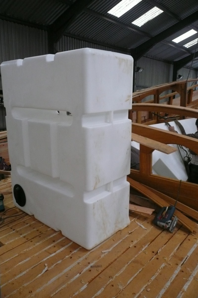 water tank on deck