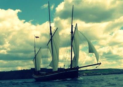 Adventure traditional sailing Cornwall