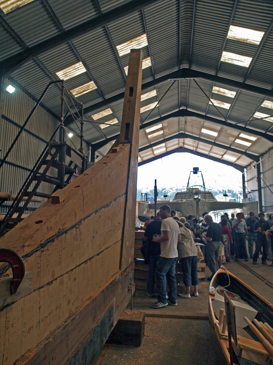 Keel laying party