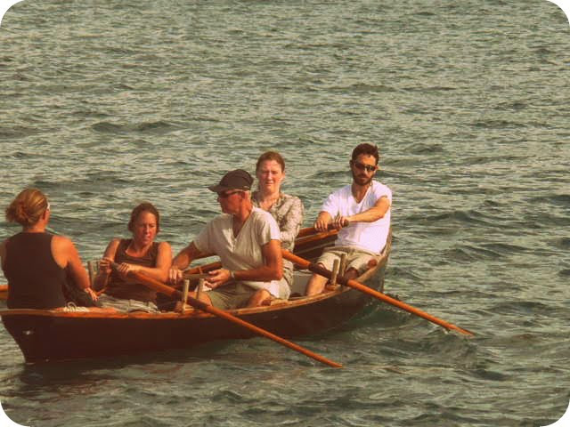 Crew rowing the ship's Gig