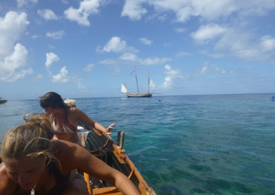 Last winter rowing the gigs in the Caribbean.