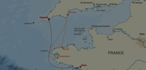This year's cargo routes.
